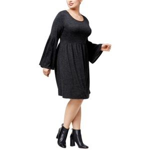 NWT NY Collection Bell Sleeves Knee Length Dress